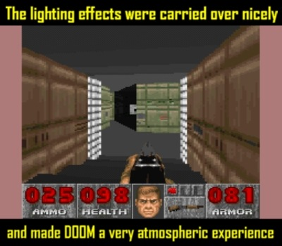 The SNES port captures Doom's essence