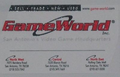 And their business card. R.I.P. GameWorld