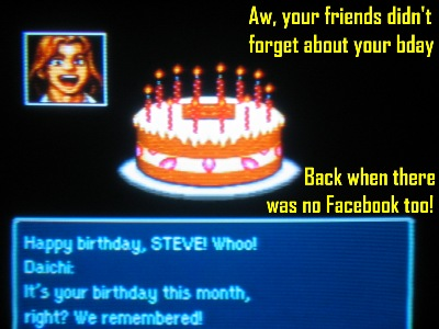 What other SNES RPG celebrates your birthday eh?