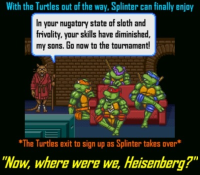 They don't call him MASTER Splinter for nothing!