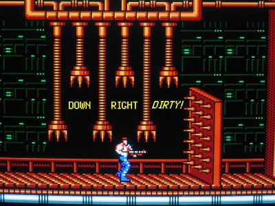 Contra is one macho video game