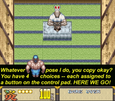 Just copy the Zangief dude (wearing bunny ears?!) and you'll win
