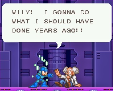 The ending reveals a fed-up and darker Mega Man