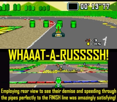 Super Mario Kart is as entertaining as it is sadistic