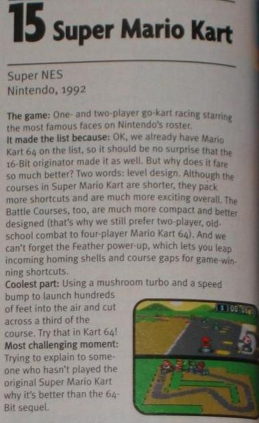 EGM ranked it #15 on their Top 100 list (November '97)