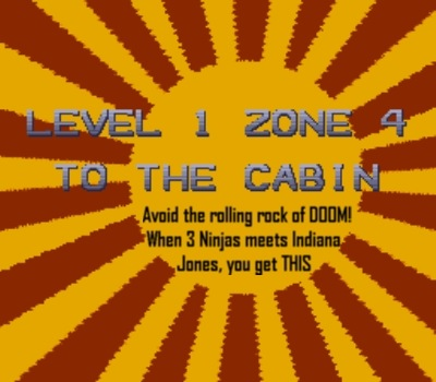 Before entering Mori's cabin you must survive this