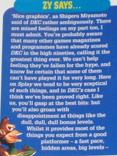 EGM and GameFan were easier to please than SPLAY