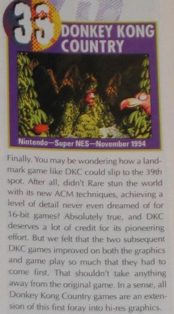 Nintendo Power rated it #39 in its Top 100