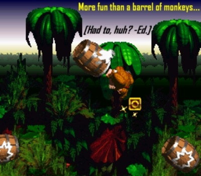 Barrel cannons were to DKC á la shells and Mario