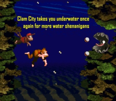 Who could forget the music for these underwater levels?