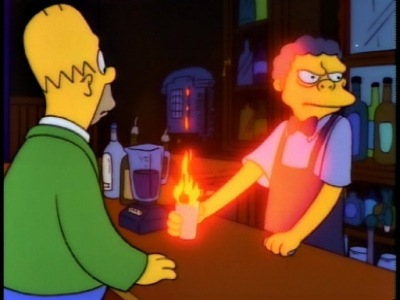 FLAMING HOMER! Puts hair on your chest like a werewolf