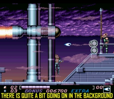 The SNES version has extra layers of parallax scrolling