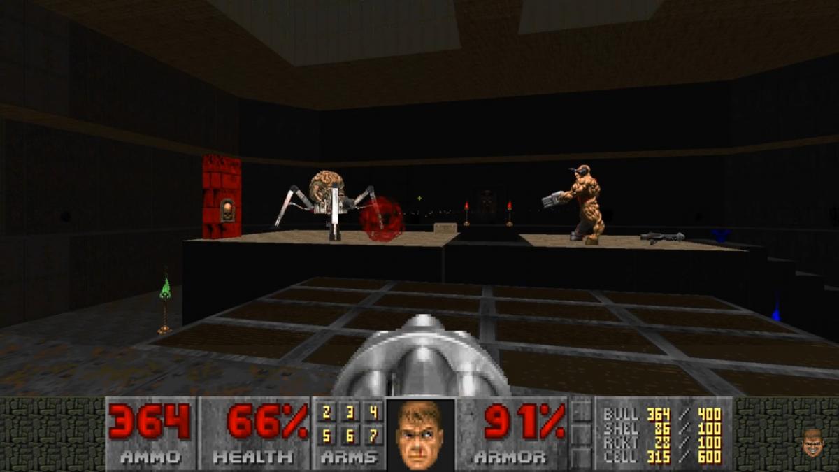 Obligatory Doom shot #1 even if its Doom II