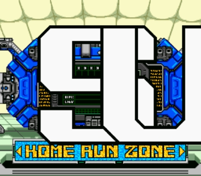 Gotta have giant scrolling letters. It was the 16-bit era!