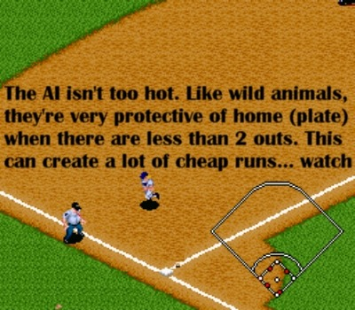 Tag third base then throw to first, playa!