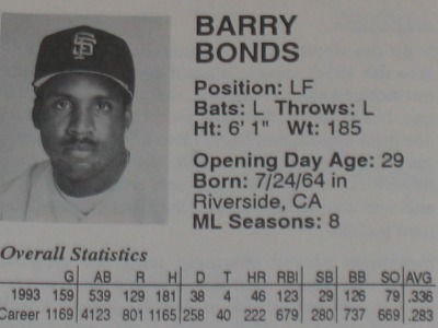 The game's stats matched the 1993 stats to a tee