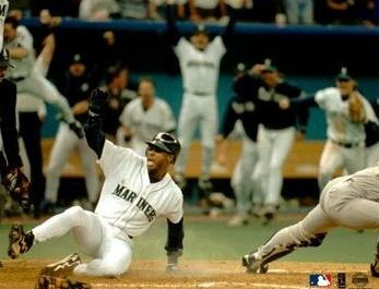 Griffey scores the game winning run 95 ALDS)
