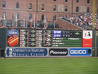 HD scoreboards are all the rage now