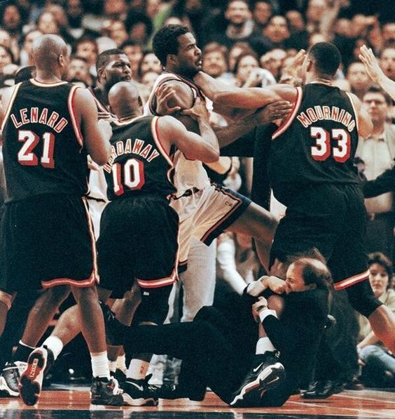 Classic moment in NBA history. Jeff Van Gundy!