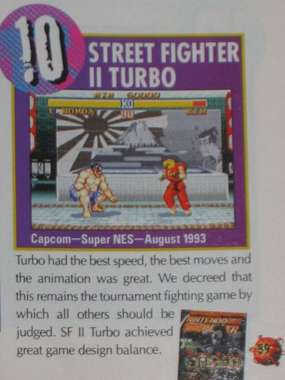 Street Fighter II Turbo ranked high on many lists