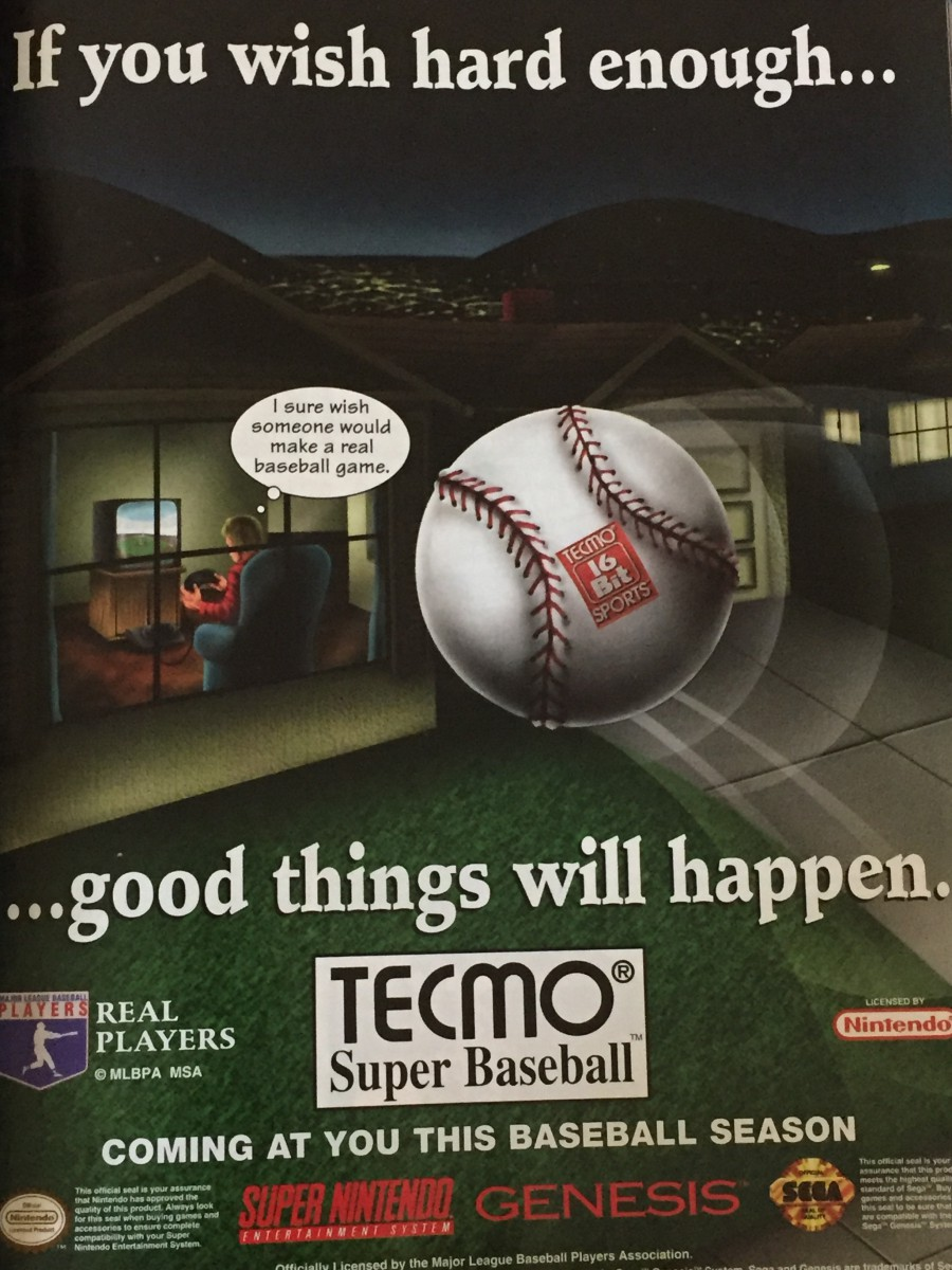 Tecmo Super Baseball had me at this ad