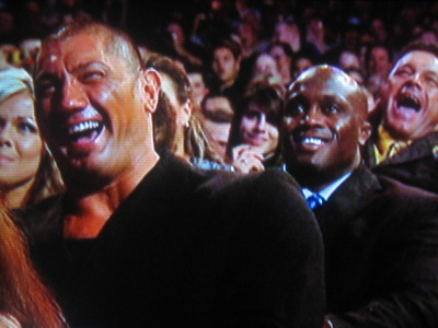 Batista, Lashley and Tatanka cracking up