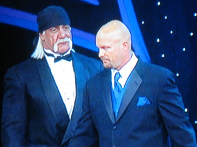 Austin walks right past Hogan, no selling it all