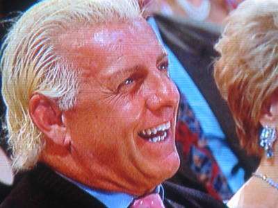 Ric Flair dies laughing. Thankfully, not literally