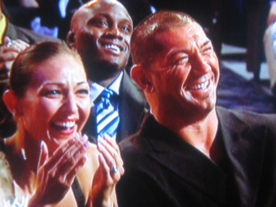 Drax the Destroyer and his lady enjoy a good chuckle