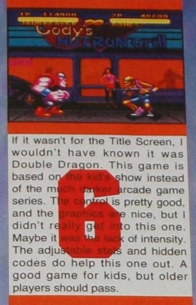 EGM's review is firmly embedded in my mind