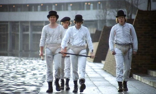 Reminds me of the slo-mo walk from Clockwork Orange