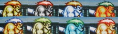 Blanka hands down wins for coolest color alterations
