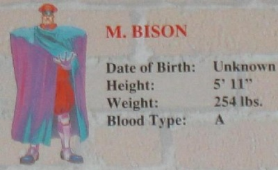 A true psychopath, M. Bison shows no mercy