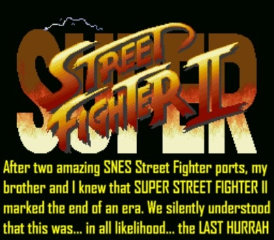 And it was... 'til Street Fighter Alpha 2... *cough*