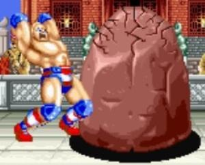 Battle a giant boulder?