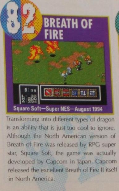 Nintendo Power ranked it #82 on their Top 100 list