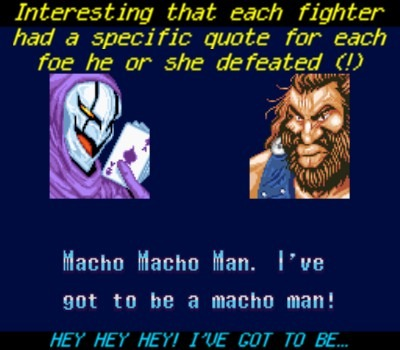 A MACHO MAN!