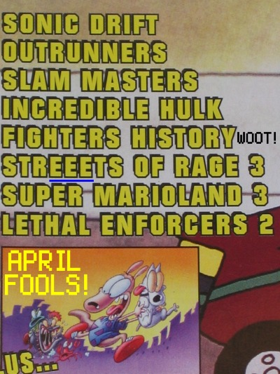 EGM's annual April Fools joke (April '94, #57)