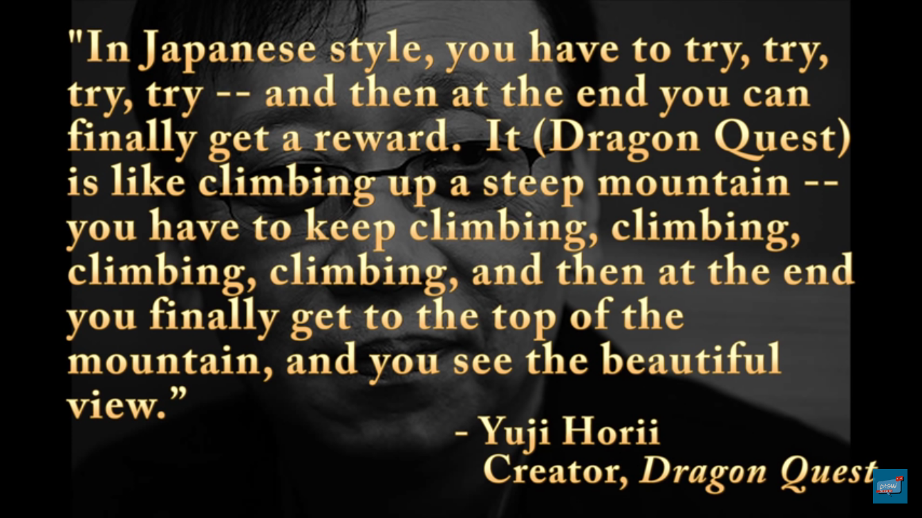 Yuji Horii explains why he's all about that grind life