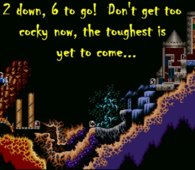 Ah, I see the mandatory fire and ice worlds up ahead...