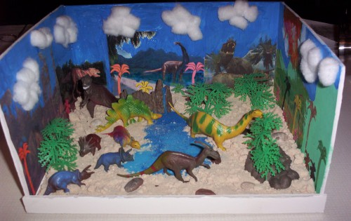 Timmys diorama kind of looked like this
