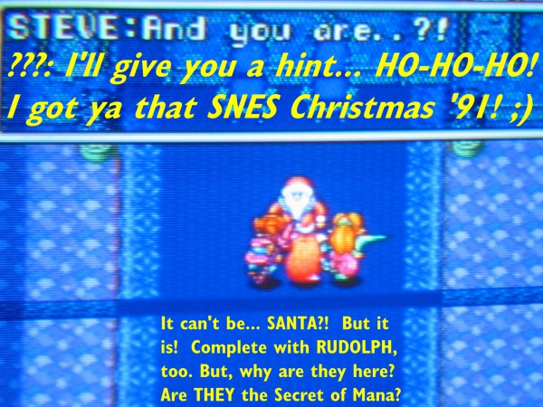 Santa of Mana: yup, even St. Nick makes a cameo!