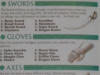 There are eight weapon types in all