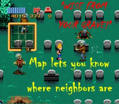 Toggle the map on and off with the shoulder buttons