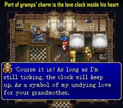 Behind his rough exterior lies a tender heart, er, clock