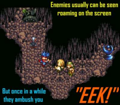 Enemies are either visible or ambush at set intervals
