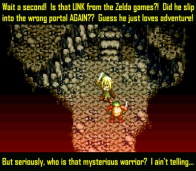 Link, ever the glory hog