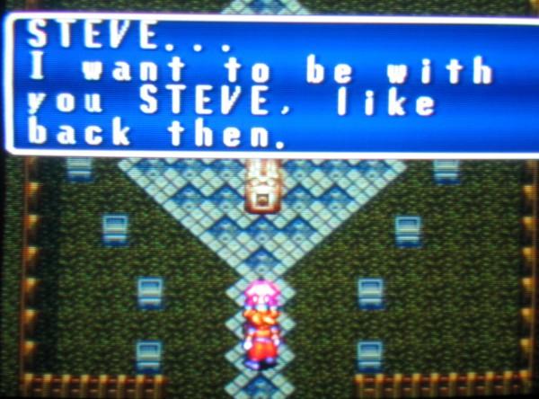 That Steve, such a ladies' man! [Riiight -Ed.]