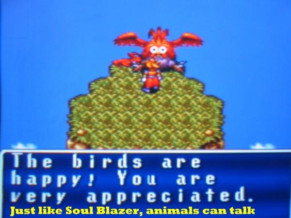 It's just as weird as Soul Blazer, if not even weirder