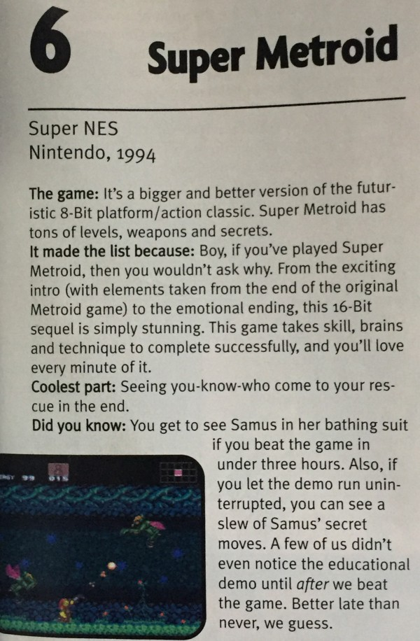 EGM ranked it as the 6th best game of all time